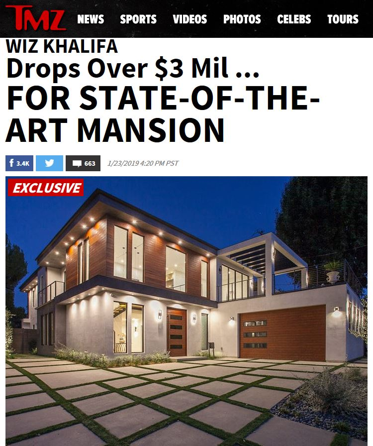 Home Listed By Ben Bacal And David Ferrugio Purchased By Wiz Khalifa